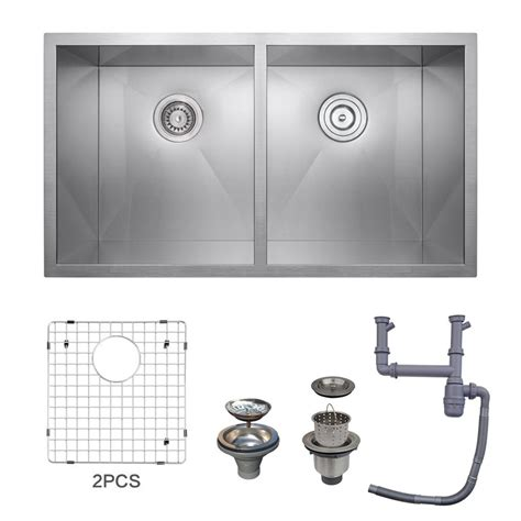 deep undermount kitchen sinks kes 32 inch kitchen sink stainless steel double bowl