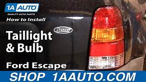 How To Install Replace Taillight And Bulb Ford Escape 01