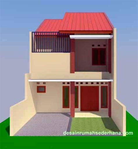 contoh desain rumah sederhana  lantai  kamar tidur