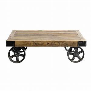 coffee table on casters move it anytime homesfeed With rustic coffee table with casters