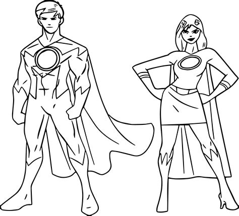 Superheroes Free Coloring Pages