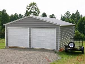 20x26 vertical roof double car garage buy metal carports With 20x26 garage