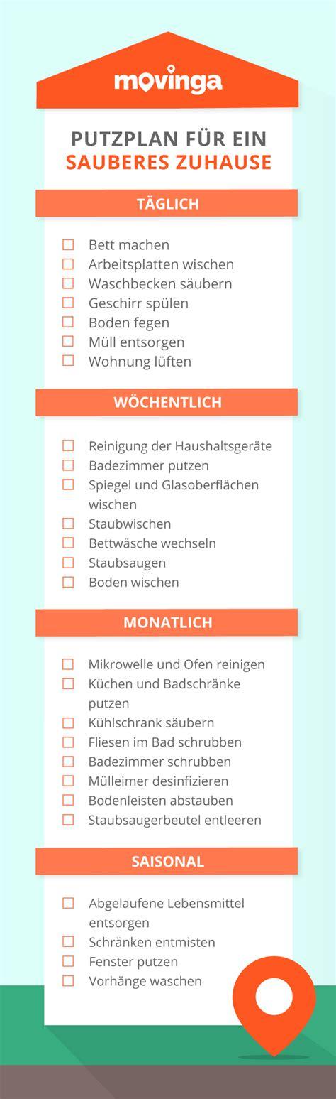 Putzplan Für Die Wohnung by Unsere Putzpl 228 Ne F 252 R Ein Sauberes Zuhause Kostenlos Zum