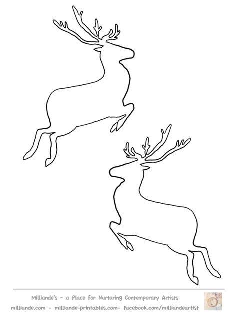 Reindeer Template Printable by Reindeer Templates Coloring Home