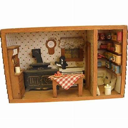 Diorama Kitchen Country Wooden Pantry Lane Rubylane