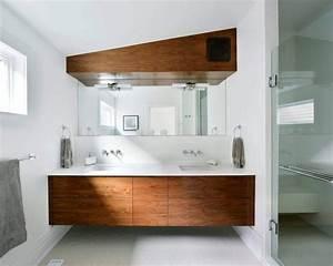 maison meuble lavabo bois massif carrelage hexagonal With meuble lavabo bois massif