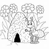 Ant Hill Coloring Pages Surfnetkids sketch template