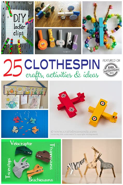 25 Wooden Clothespin Crafts Activities & Ideas