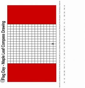 Draw A Canadian Flag Using Compass Directions  Original