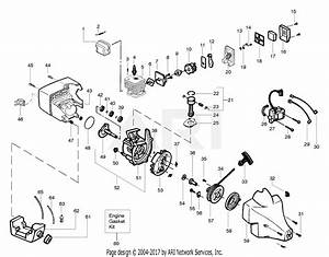 Poulan Xt600 Gas Trimmer Type 3 Parts Diagram For Engine Assembly Type 3