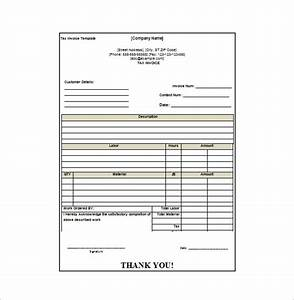 Invoice receipt template 8 free word excel pdf format for Free invoice template bill receipt template free