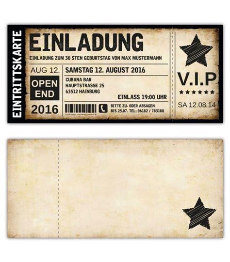 einladungskarten einladungskarte geburtstag als ticket