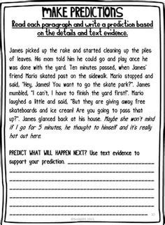 19 best images of 2nd grade reading worksheets predicting