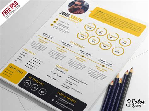 creative resume cv psd bundle psdfreebies