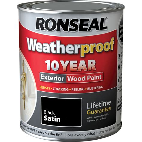 ronseal weatherproof  year exterior satin wood paint