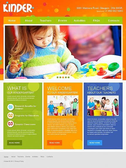 Nursery Brochure Templates Free by Colorful Day Care Nursery Kindergarten Website