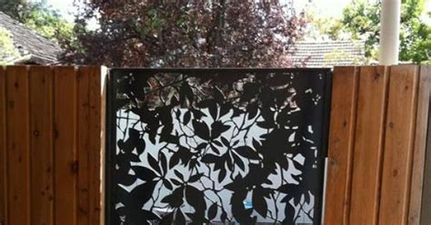 decorative metal fence panels steel fencing and gates in melbourne le roux design