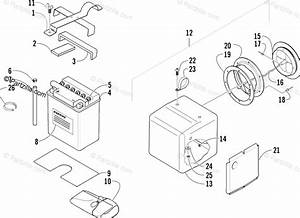 Arctic Cat Atv 2004 Oem Parts Diagram For Storage Box And Battery Assembly