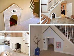you can build your own dog house under the stairs of your home With build your own dog house