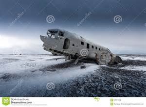 vacation house plans small plane wreck on the black in iceland stock photo
