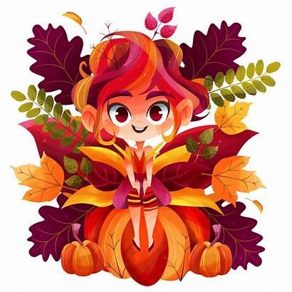 Fairy Autumn Behance Mexico Digital Gaby Greetings