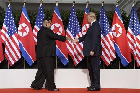 trump kim sign joint document  summit  singapore
