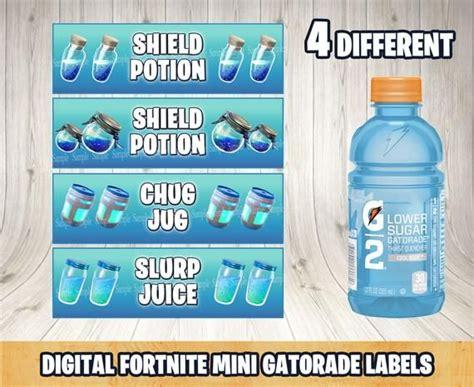 fortnite shield potion fortnite mini gatorade bottle