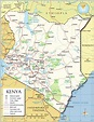 Political Map of Kenya - Nations Online Project
