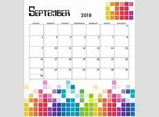 2018 Pixel Monthly Calendar Calendar 2018