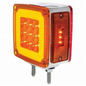 2  59 Led Red Amber Halo Glow Side Marker Turn Signal