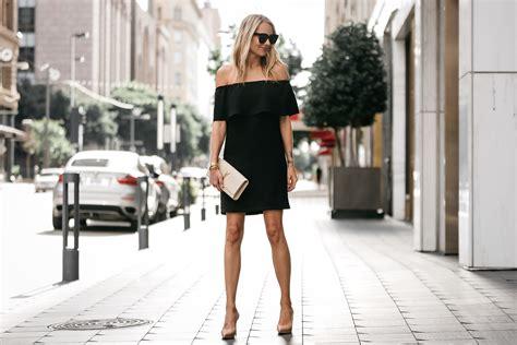 shoulder black dress fashion jackson