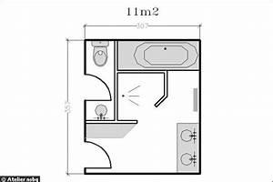18 plans de salle de bains de moins de 11 m2 With plan salle de bain avec wc