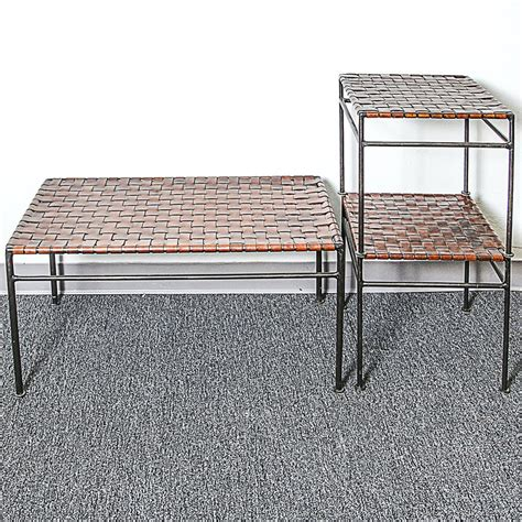Novica, the impact marketplace, features unique leather coffee tables and ideas handcrafted by talented artisans worldwide. Coffee Table and Two End Tables with Metal Frame and Woven Leather Top | EBTH