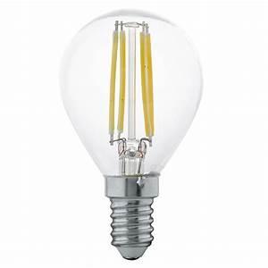 Filament Led E14 : eglo 11499 e14 ses 4w led golfball filament lamp ~ Markanthonyermac.com Haus und Dekorationen