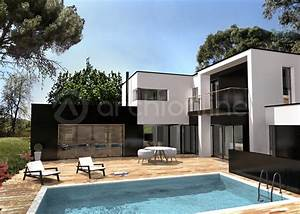 maison noe plan de maison moderne par archionline With attractive idee maison plain pied 2 photo de maison darchitecte plain pied