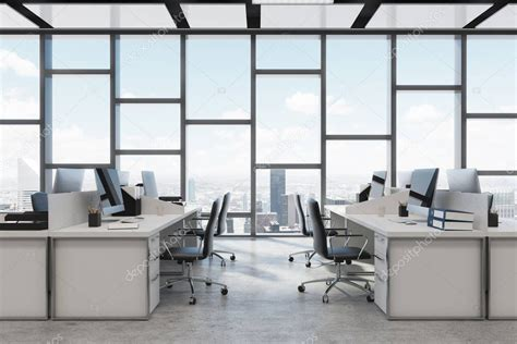 rectangular decoration open space office close  stock