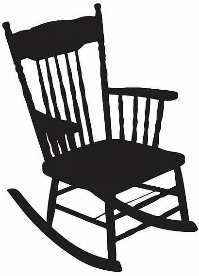Chair Silhouette Vector Rocking Clip Illustration Illustrations