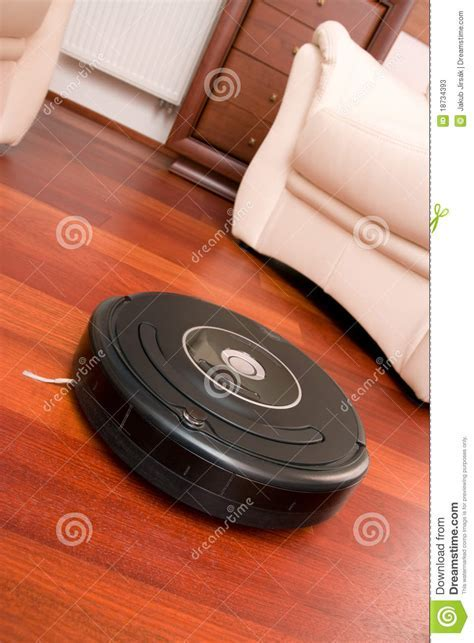 Home cleaning robot stock image. Image of parquet, chores