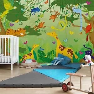 Trampolin Für Kinderzimmer : vlies fototapete dschungelspiel f r kinderzimmer fototapeten 3d vliestapeten 3d ~ Frokenaadalensverden.com Haus und Dekorationen