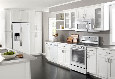 kitchen design with white appliances whirlpool quot white quot appliances another choice for 8000