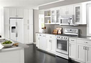 whirlpool quotwhite icequot appliances another nice choice for With kitchen colors with white cabinets with dishwasher safe stickers