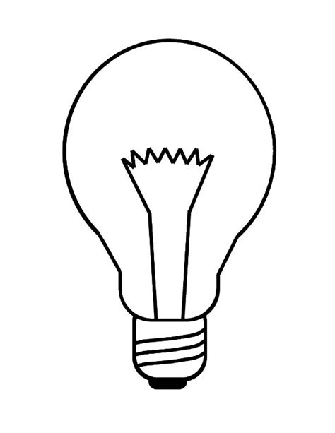 How To Draw A Light Bulb by Incandescent Light Bulb Coloring Pages Print