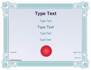 blank certificates school award certificate template With certificate street templates blank