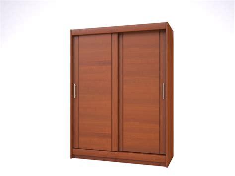 armoire haut de gamme 2 portes bois merisier meubles minet