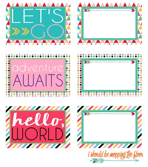 mopping  floor  printable luggage tags
