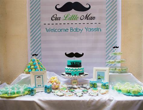 mustaches  man baby shower yassins baby shower