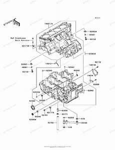 Kawasaki Motorcycle 2012 Oem Parts Diagram For Crankcase