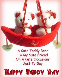 Cute, Happy, Teddy, Bear, Day, Saying, Quotes, Pictures