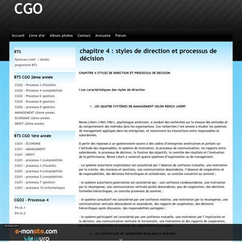 chapitre  styles de direction  processus de decision