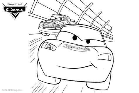 cars pixar lightning mcqueen coloring pages